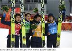 20140218日本、ジャンプ団体で銅メダル 優勝はドイツ 朝日新聞.jpg